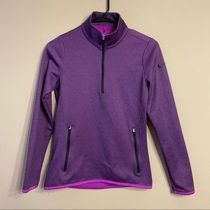Nike Purple Golf Fitted Quarter Zip Jacket Size XS